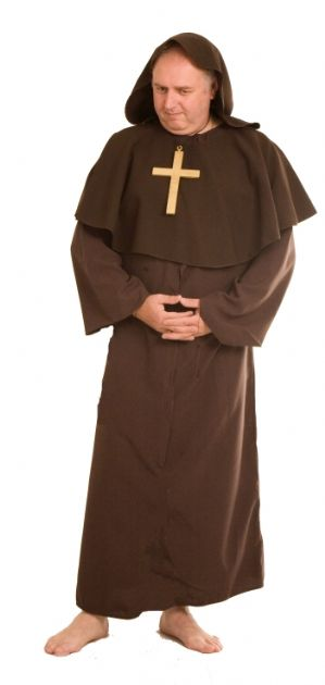 Plus size Monk fancy dress costume